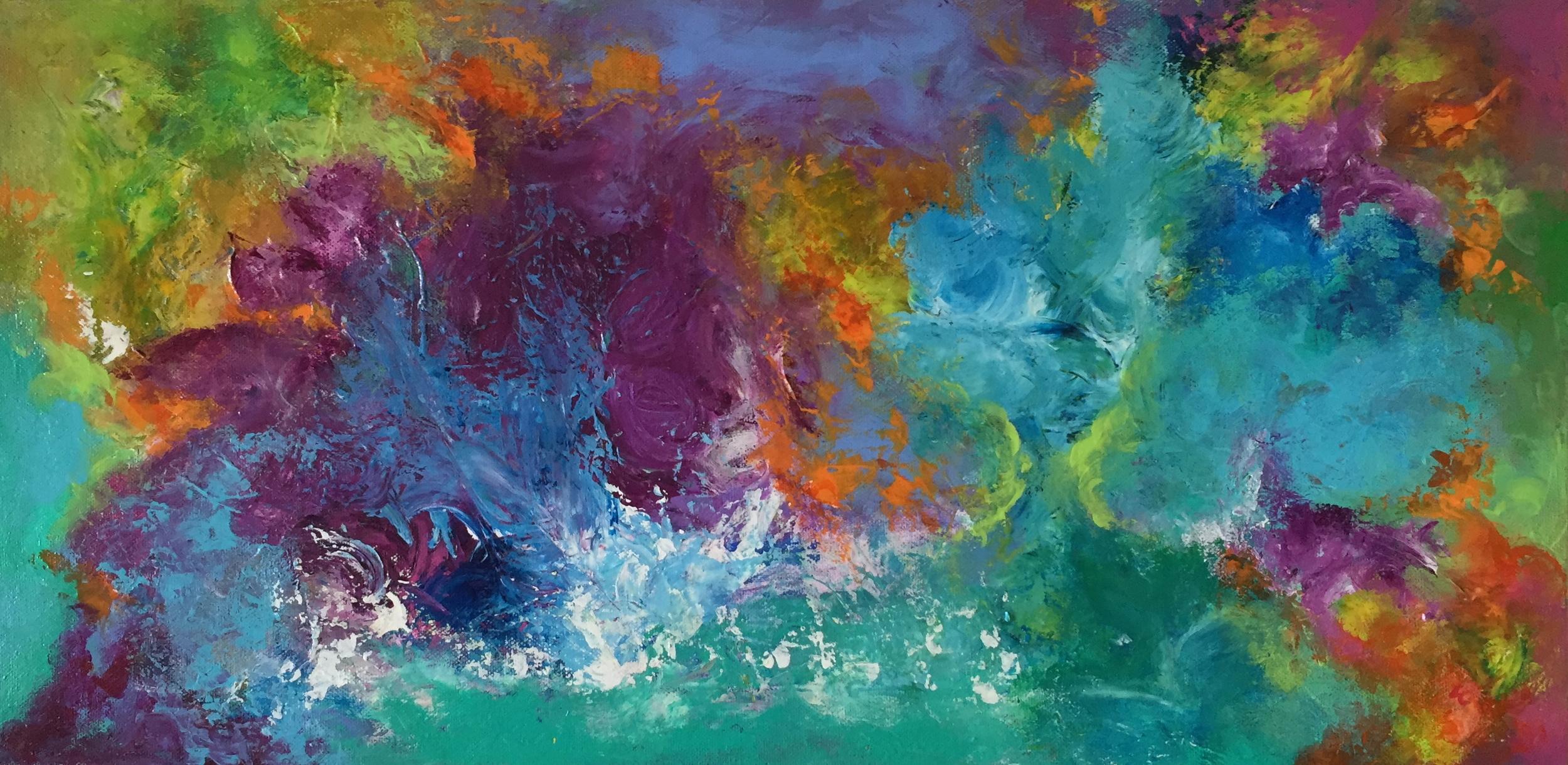 "Emergence 12"" x 24"" acrylic on canvas"