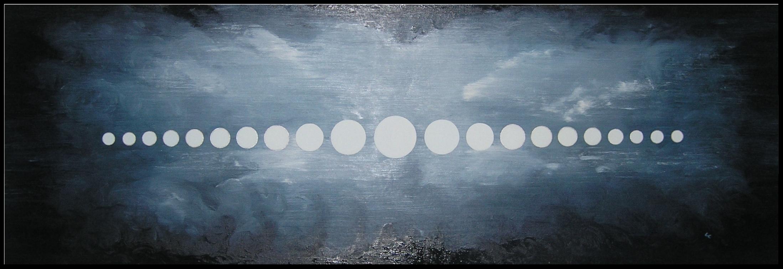 "21 Moons oil/linen 19 1/2""x 55 1/2"""