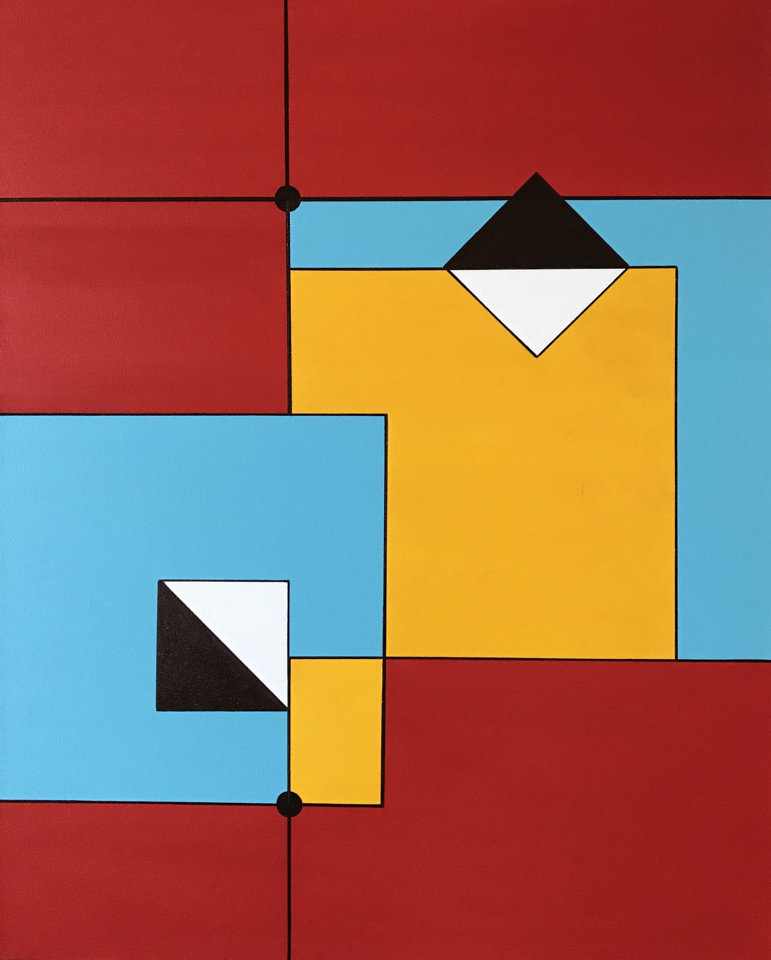 """Overlapping  20""""x 30"""""""