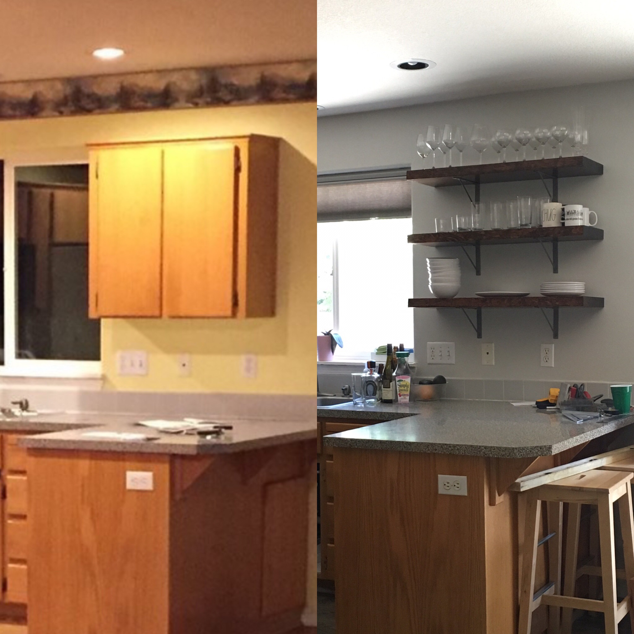 Open shelving makes an amazing difference | Before and after