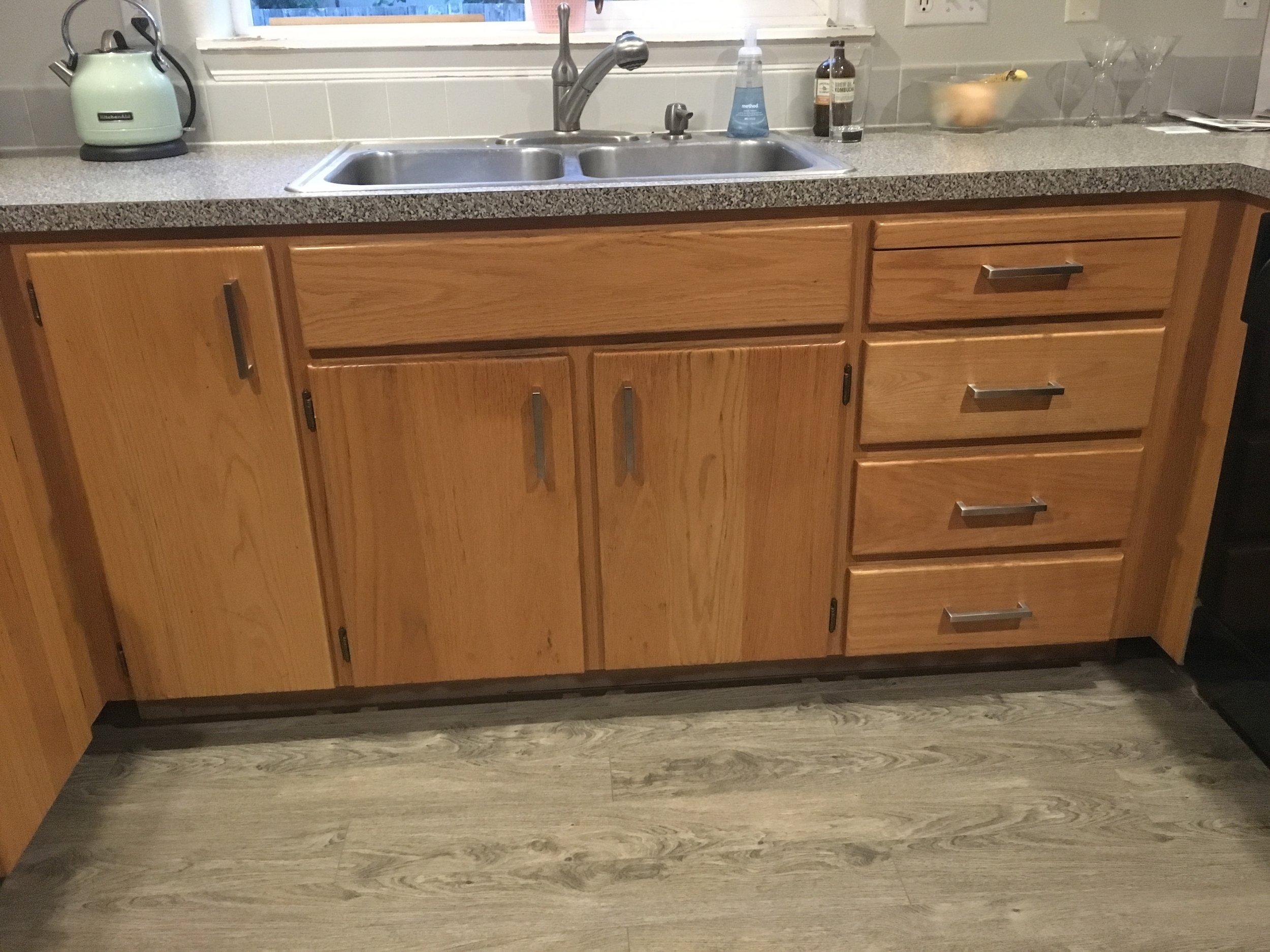 Added modern drawer pulls