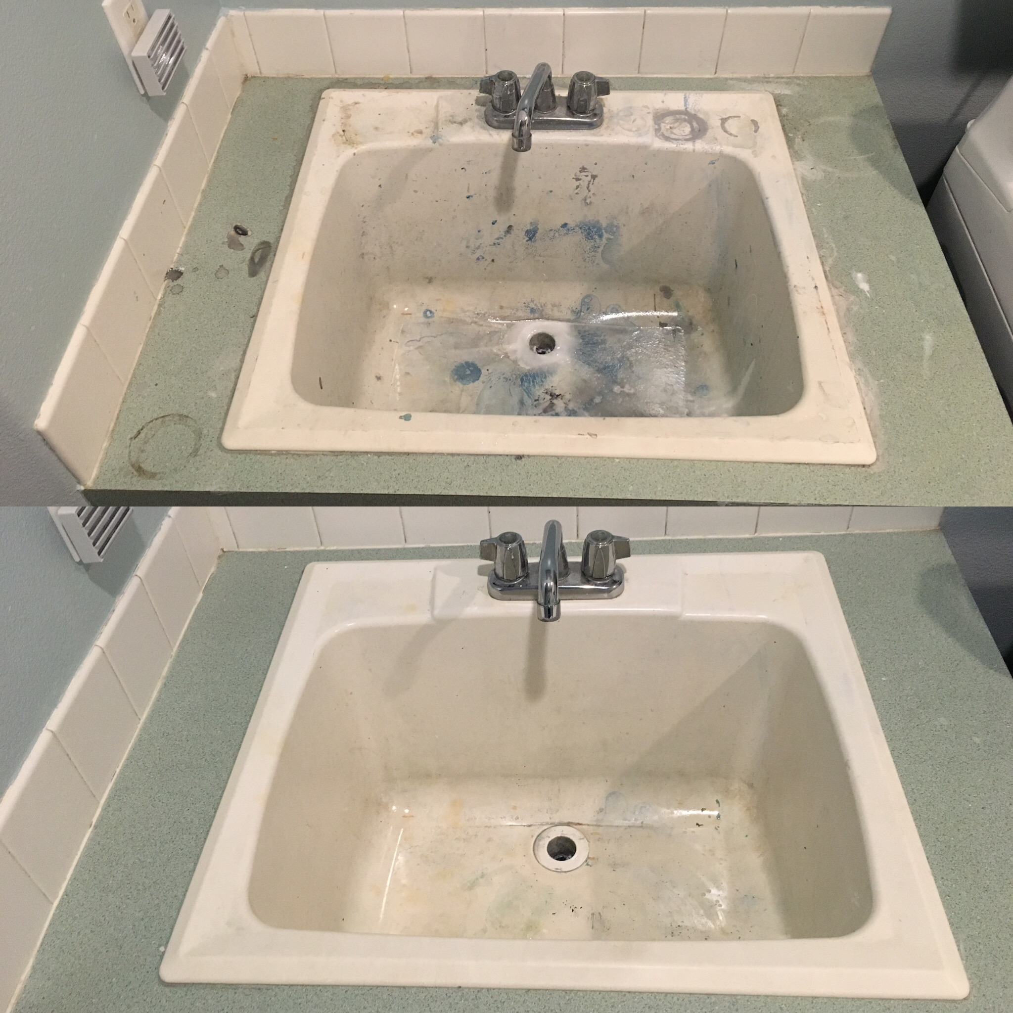 Also cleaned up that messy sink the best I could