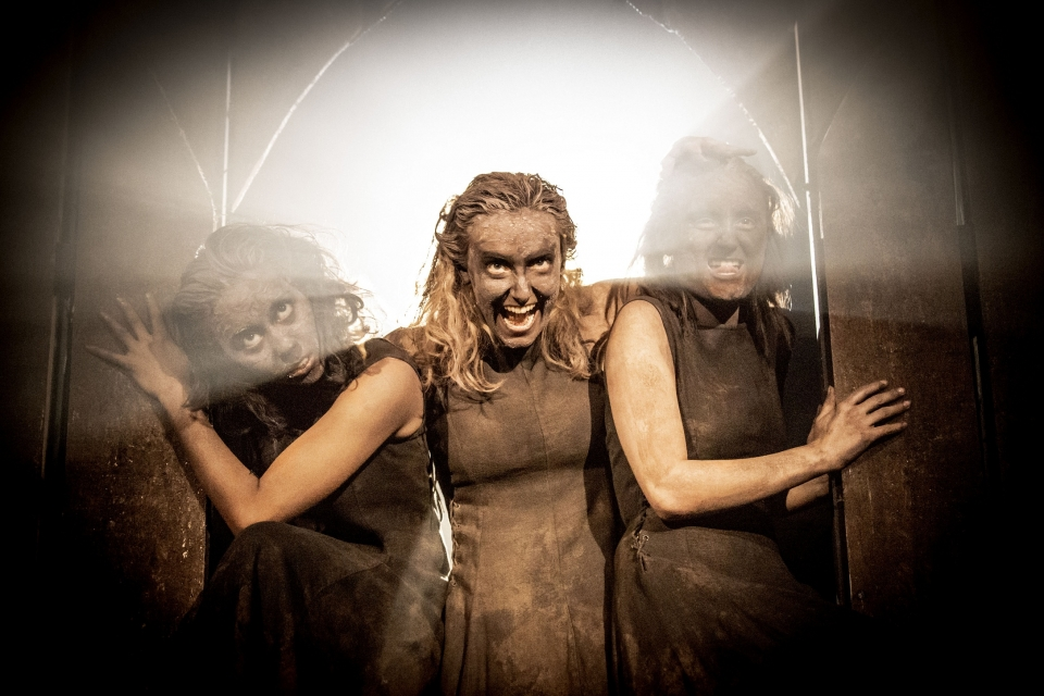 Spooky superstitions, and daggers, and witches, oh my. Pictured: the witches from Kenneth Branagh's 2013 production of  Macbeth,  screened by the National Theatre Live.