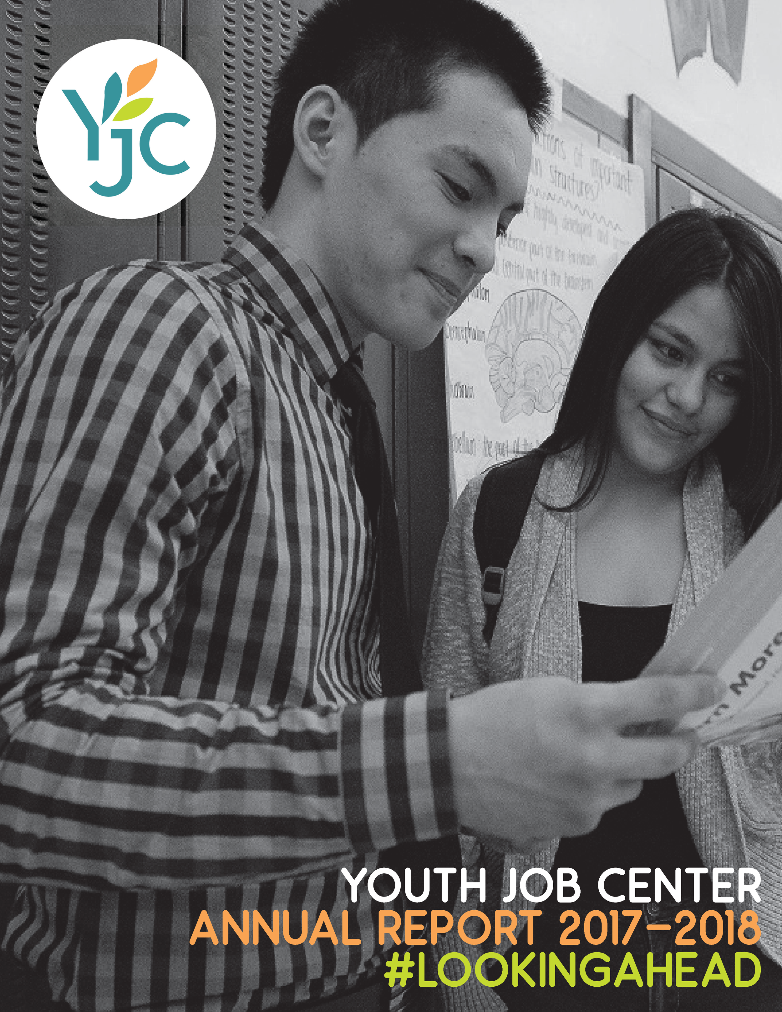 Youth Job Center Annual Report 2017-2018 - Cover Page.png