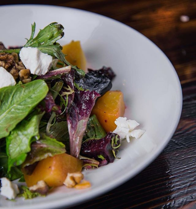 Enjoy our Red and Golden Beet Salad at Lunch today! Happy Monday, NYC. #HudsonMalone #RedBeets #GoldenBeets #Salad #Eeeeeats #Midtown