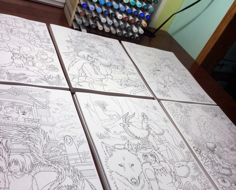 🎨 Studio Ghibli — Amanda Lanford - Art & Illustration