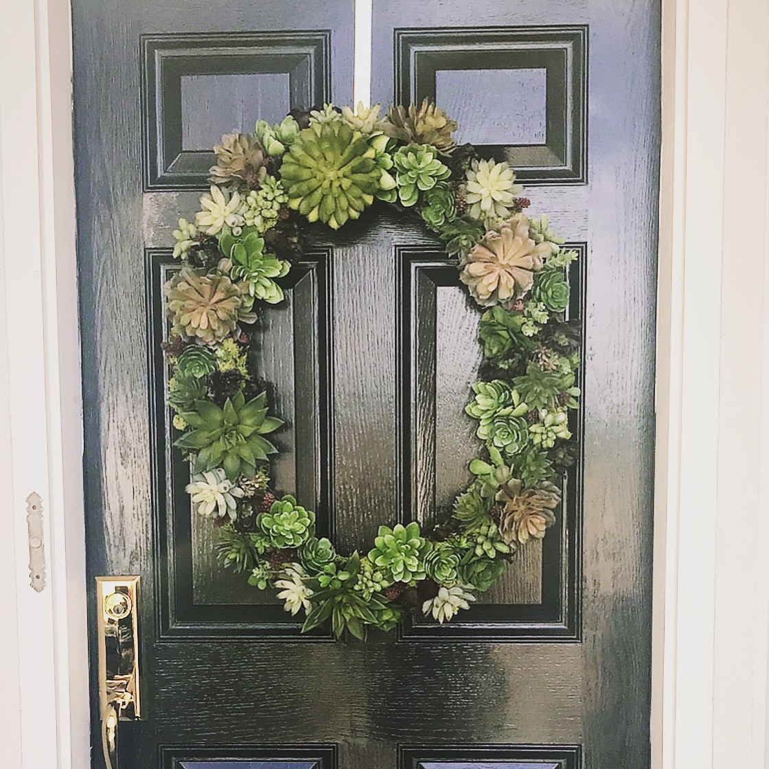 Decorate Your Door - Whether or not you choose to put on a fresh coat of paint, accessorizing your door will personalize your home. Building a wreath, or hanging a cute seasonal Easter egg is a simple way to accessorize.