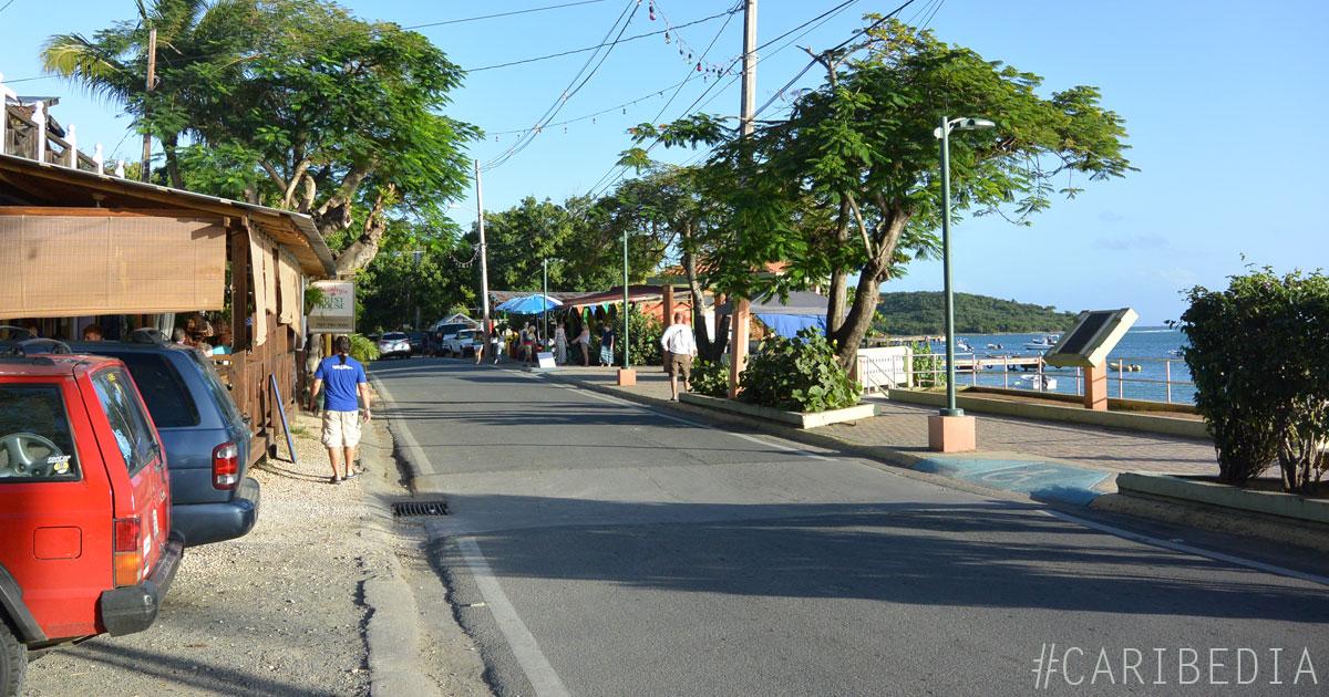 The Malecón in Esperanza, Vieques Island, PR
