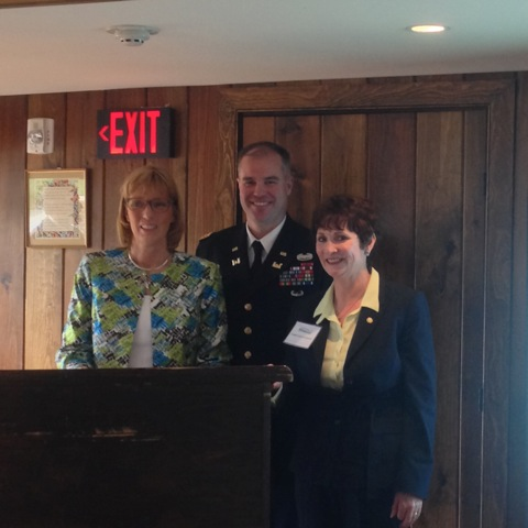 [From L to R: DCNR Secretary Cindy Adams Dunn; Lieutenant Colonel Michael Bliss,Commander of the Philadelphia District of the Army Corps of Engineers; and State Rep.Marguerite Quinn]