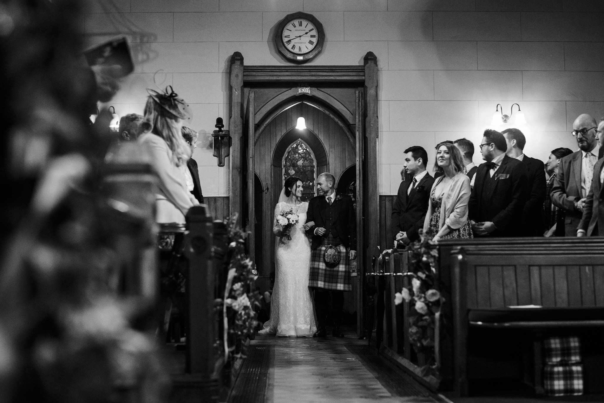 This stunning entrance captured perfectly by supremo 2nd shooter  Fiona Higgins