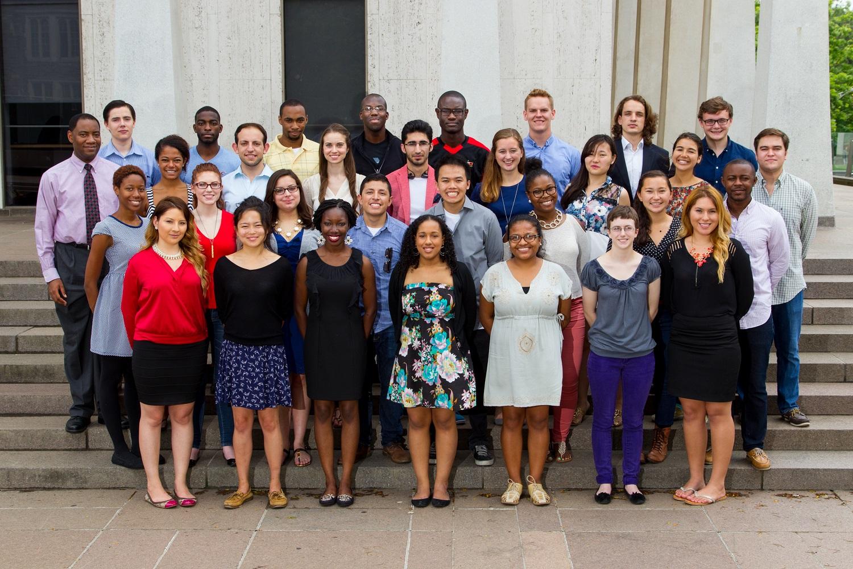 International students outside Woodrow Wilson School during freshman preorientation
