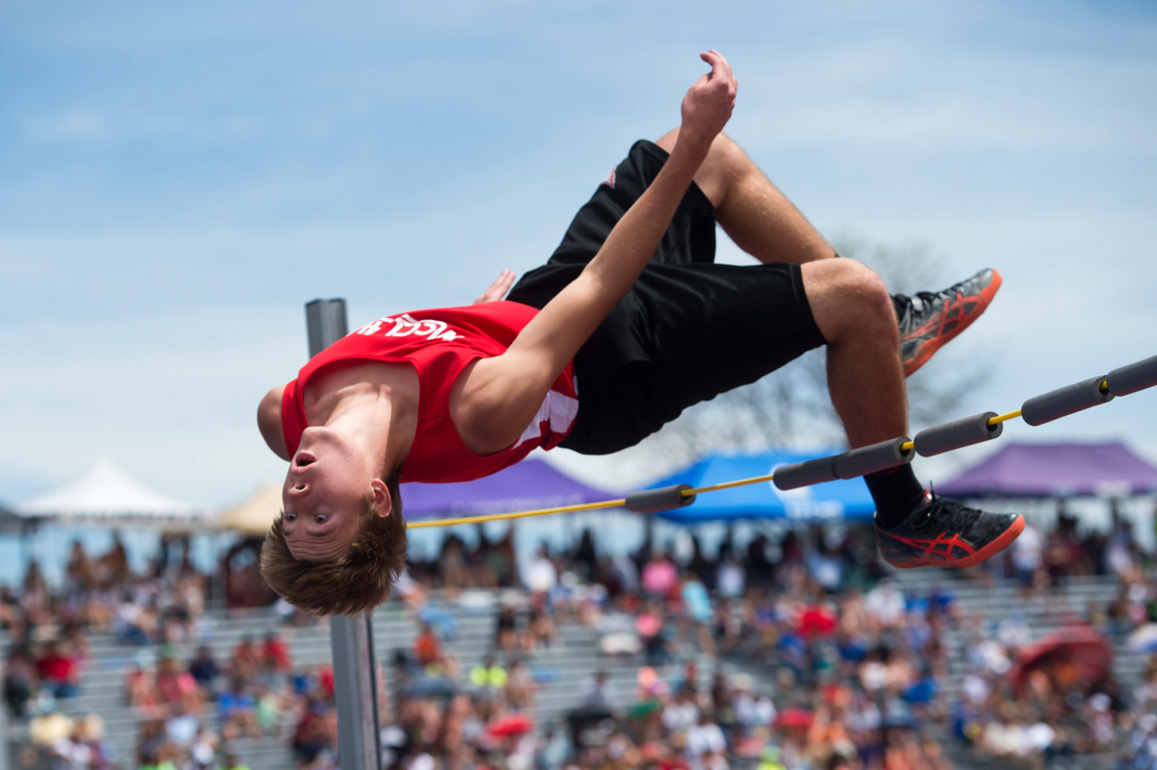 McClave High School's Ian Beckett finished first place in the 1A high jump during the Track and Field State Championships at Jefferson County Stadium in Lakewood, Colo.