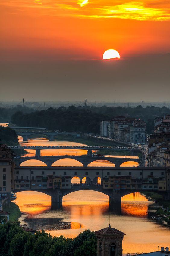 Arno Sunset, Florence