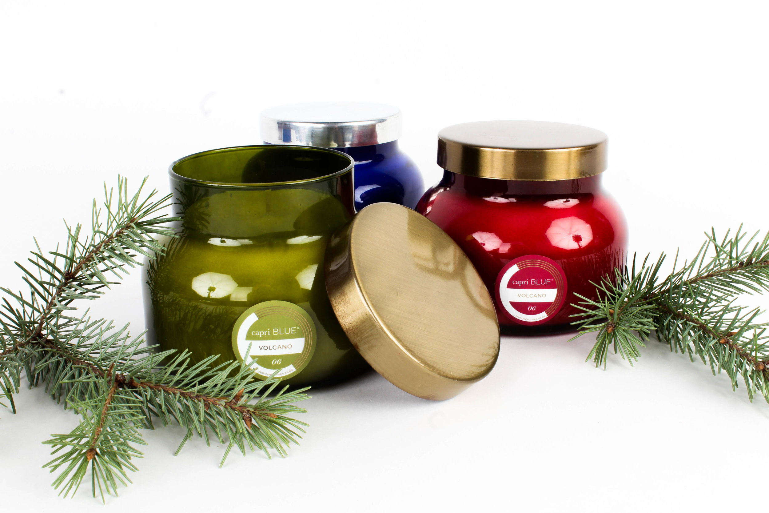 Candles: Available in Volcano and Blue Jean $28