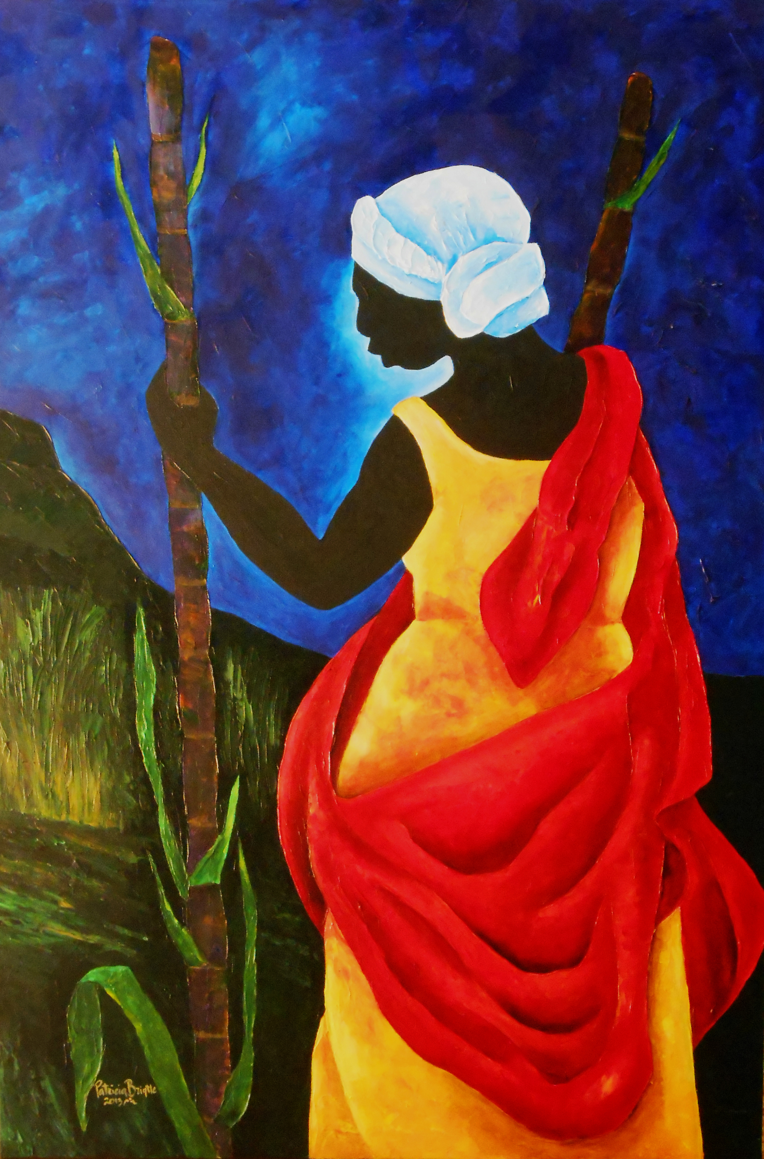 To the Sugar Cane field 36x24 Acrylic on canvas 2013 ps.jpg