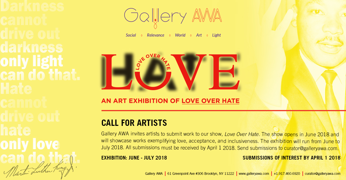 Love Over Hate - Call For Artists