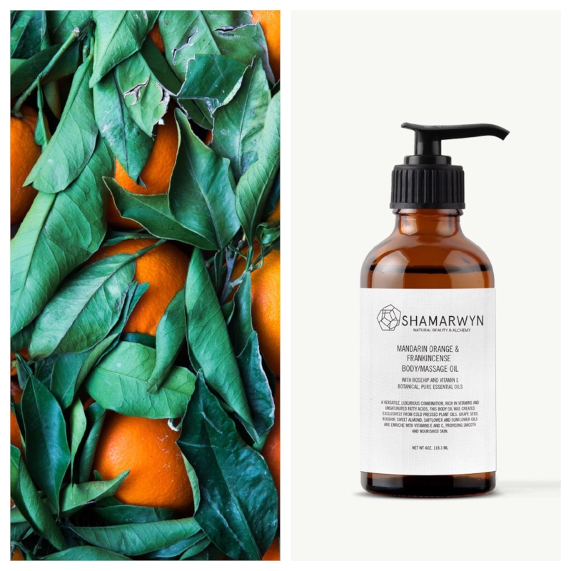 Mandarin Orange and Frankincense Body Oil