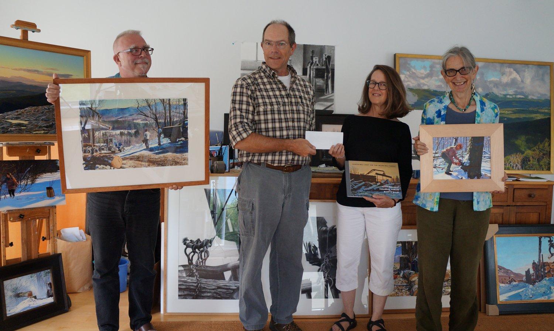 Greg Sharrow of the Vermont Folklife Center, Mark Doty of Plum Creek Foundation, Kathleen Kolb and Verandah Porche