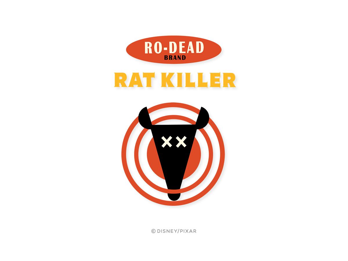 """Packaging logo series for Pixar's """"Ratatouille"""""""
