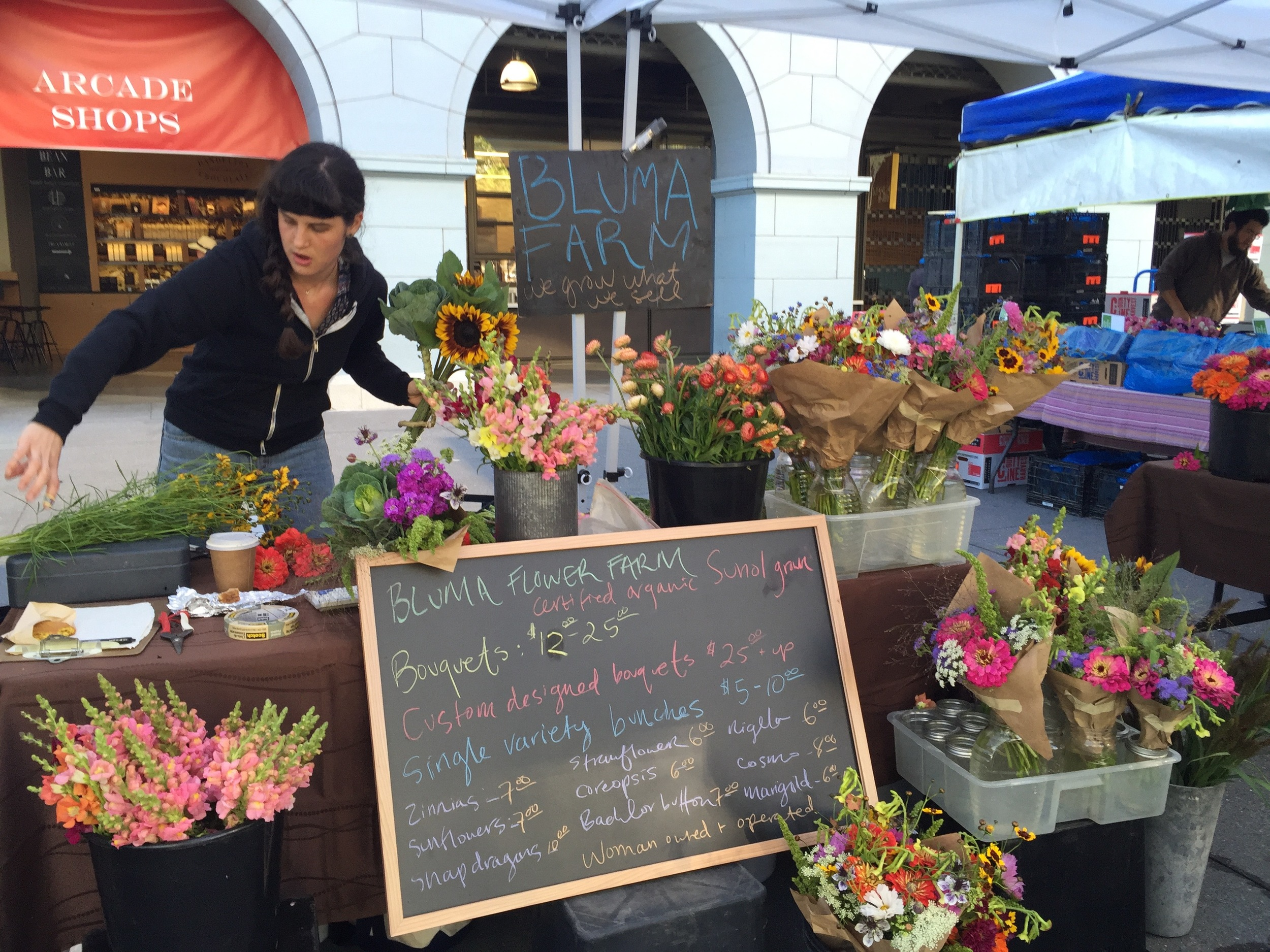 Bluma Farm: where I bought my flowers that day