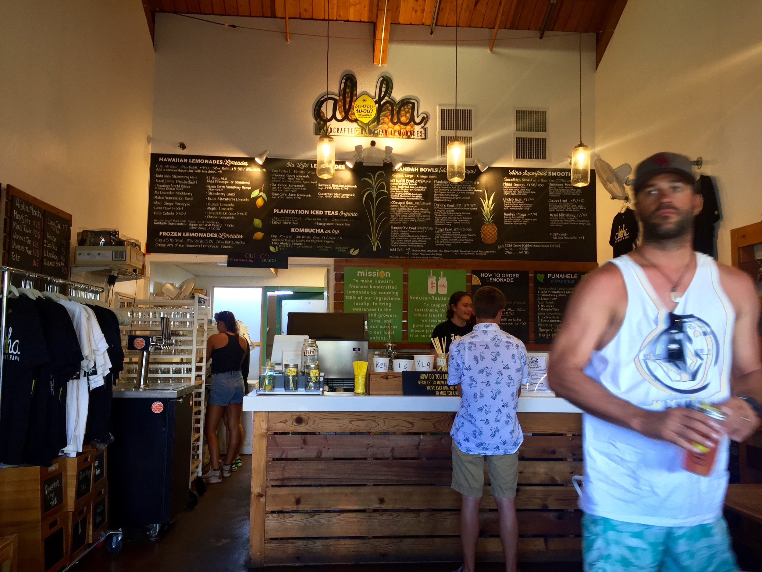 Inside their Kihei location on Maui