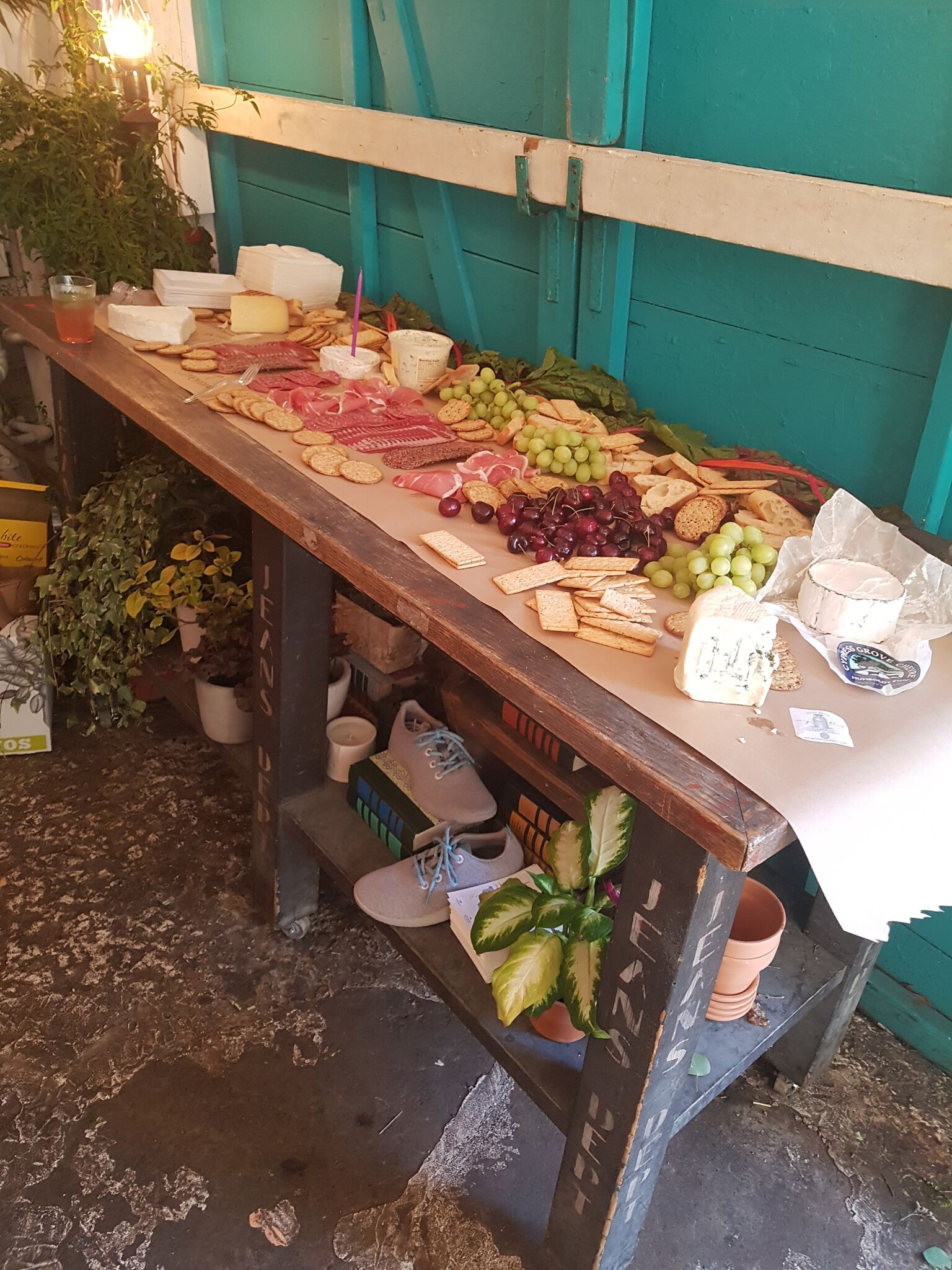 Another view of the charcuterie & cheese station