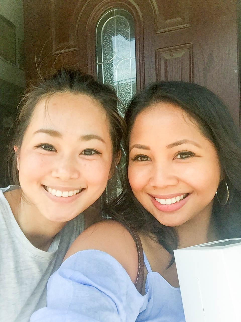 Jiahn (left) Me (right)