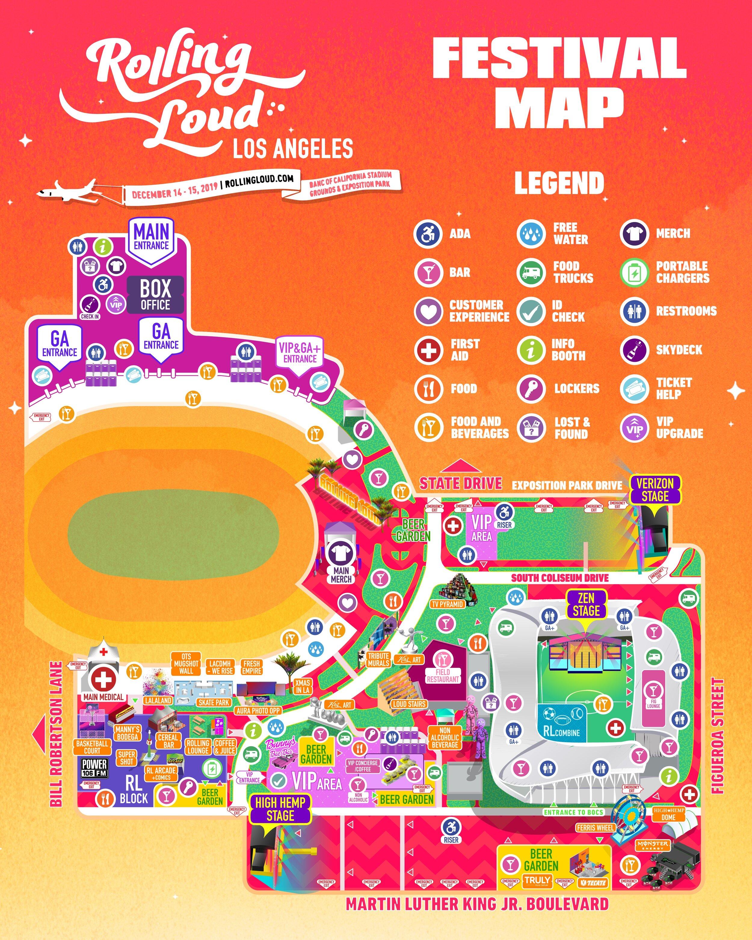 rolling loud map