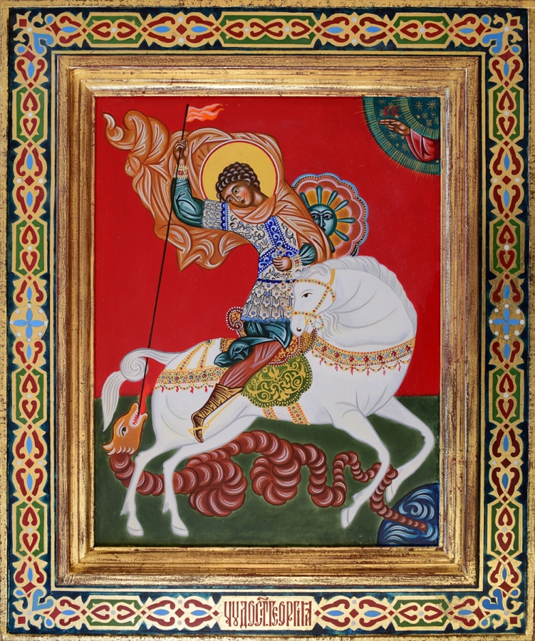 Icon-St-George-in-hand-painted-frame.jpg