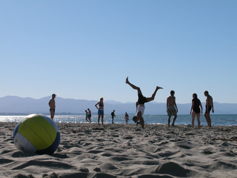 A beach day at Tahunanui