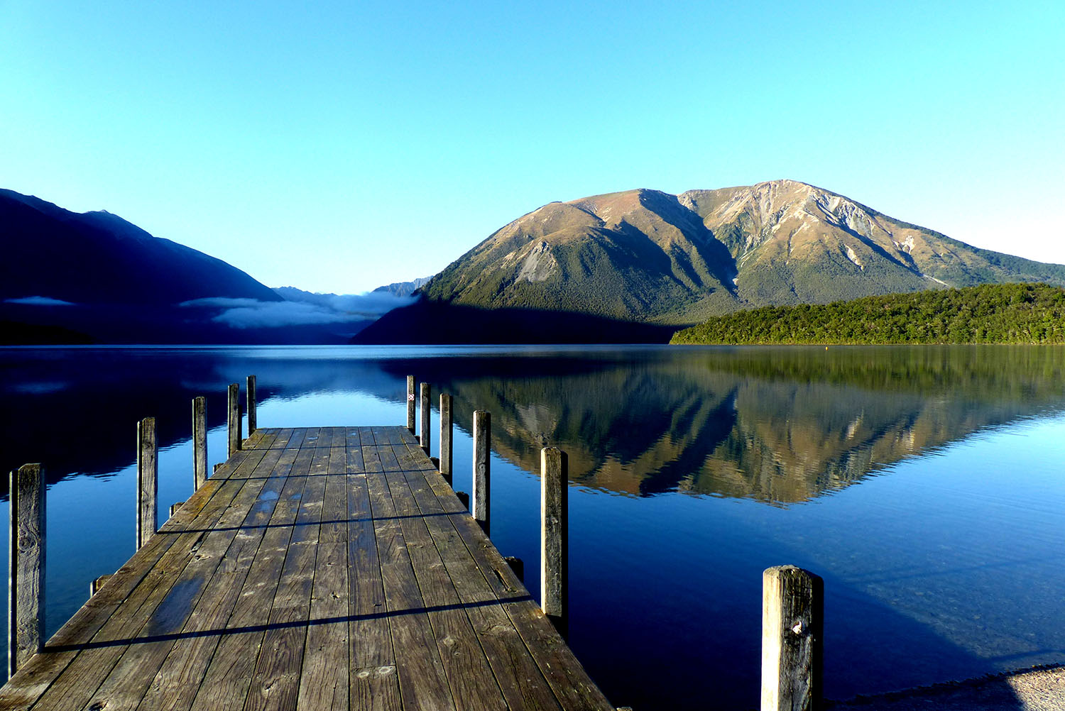 The jetty at the Nelson Lakes