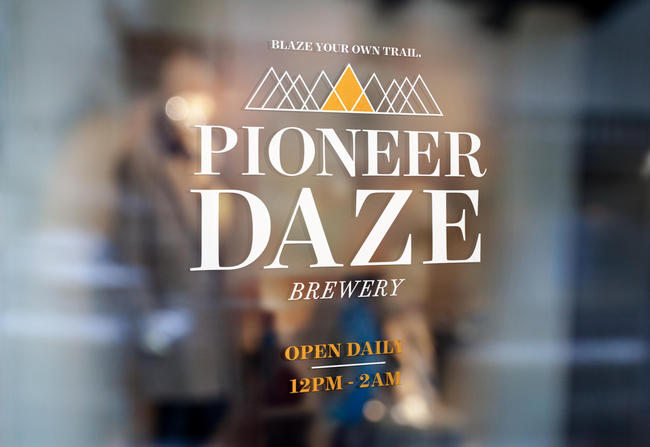 PIONEER DAZE |  Window Signage