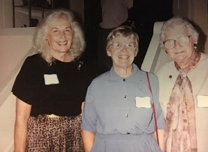Our History - From left: Founders Nancy Abraham, Bev Young, and Harriet Shetler