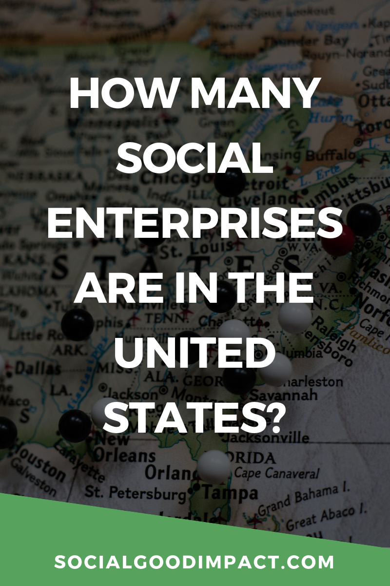 How many social enterprises are in the United States?