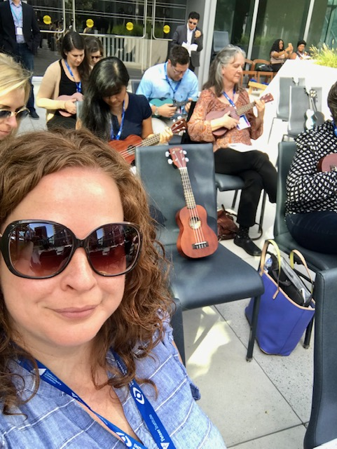 Beth Palm at Upswell 2018 ukulele class
