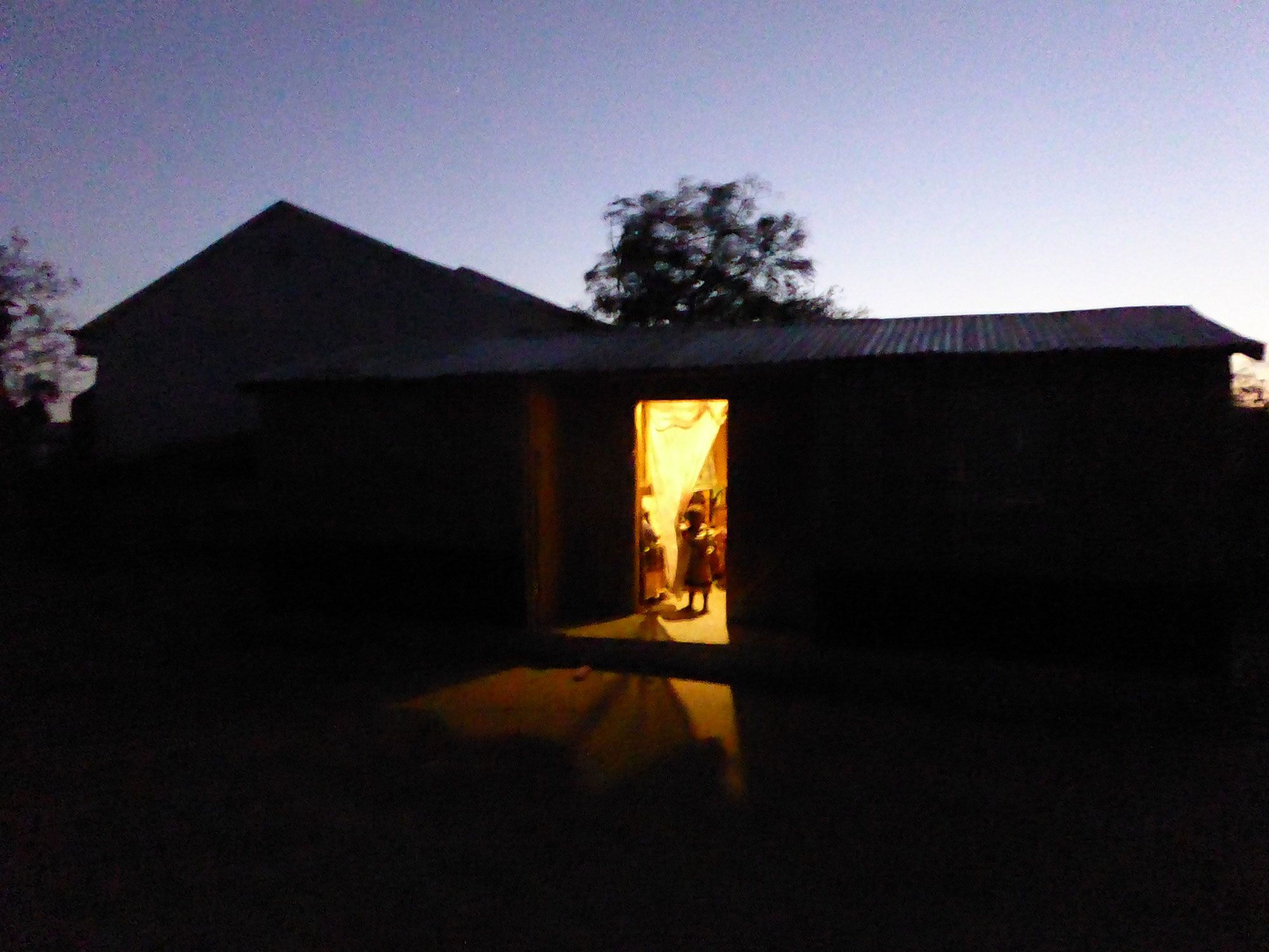A house lit up by Power Pay's proof of concept solution