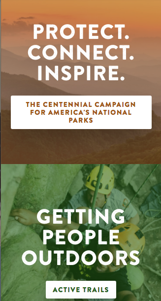 I edited all content on the National Park Foundation website.  I partnered with corporate donors like Discovery Channel and American Airlines to promote their park campaigns. -