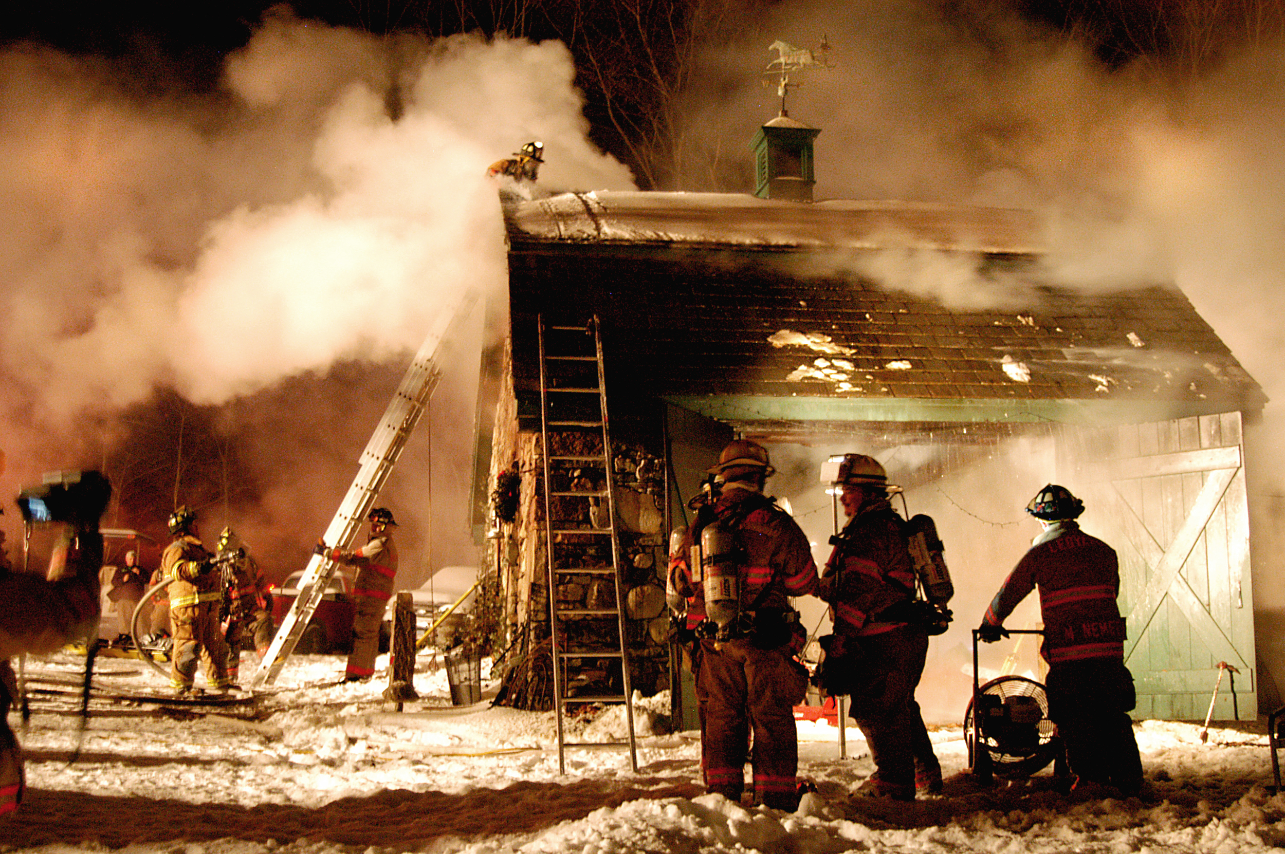 House Fire in Ledyard, CT