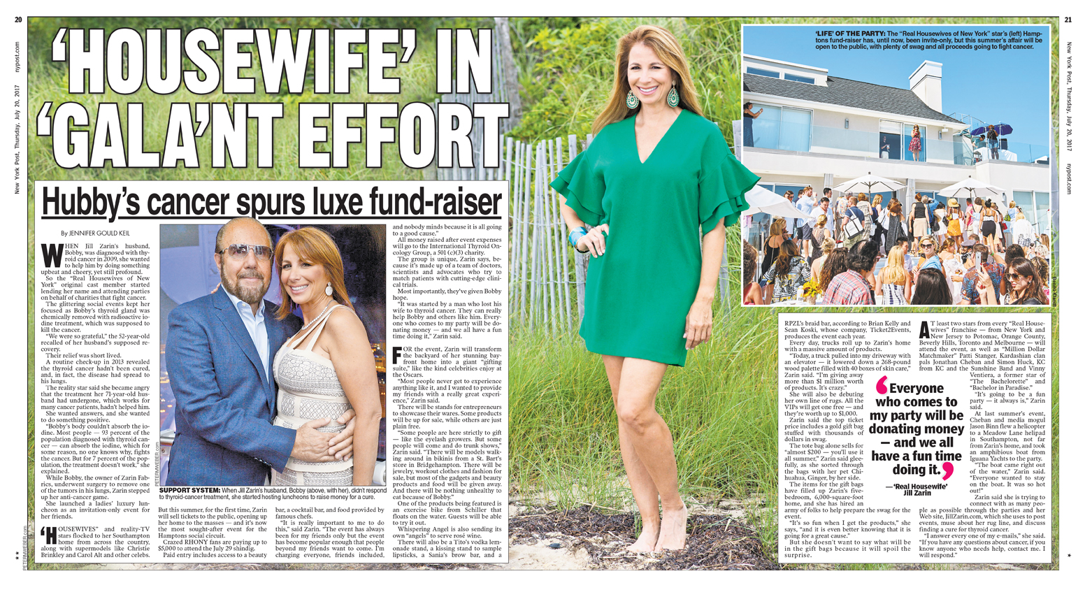 Jill Zarin, The Real Housewives of NYC