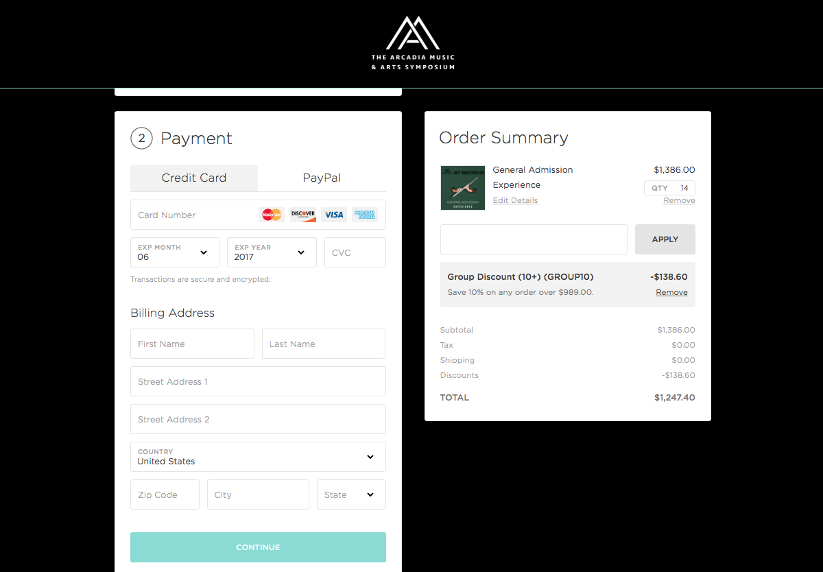 Our new custom-branded checkout experience.