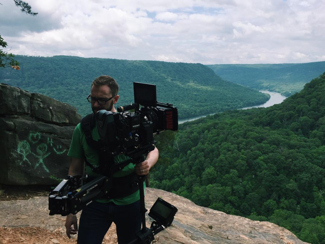Steadicam at end of Signal Point Trail outside Chattanooga, TN. photo by Chloe Howcroft