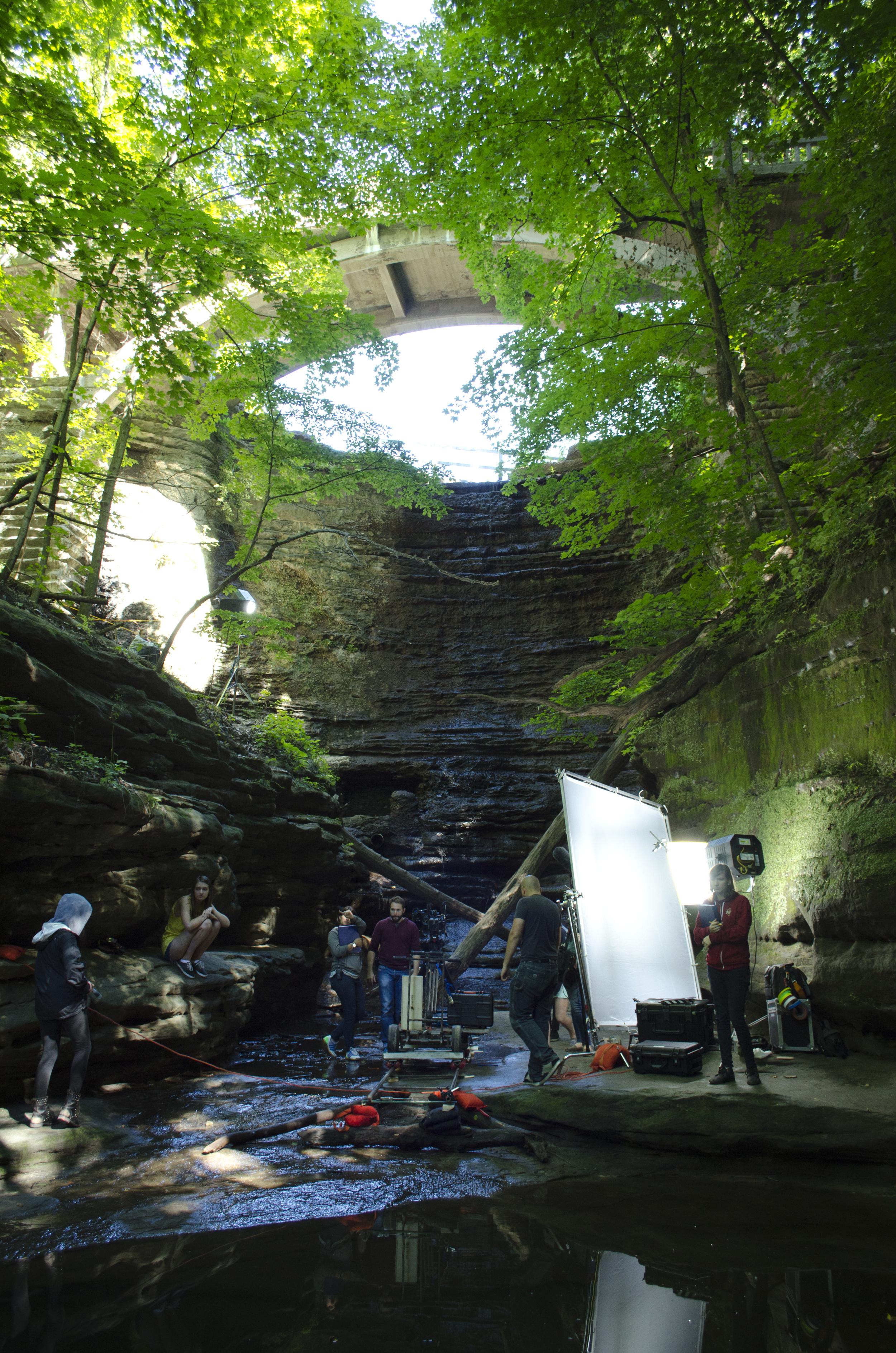 Waterfall location. Photo Credit Katie Herst