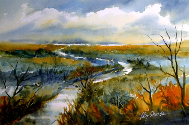 Meandering Journey, Watercolor 23X27, $400.jpg