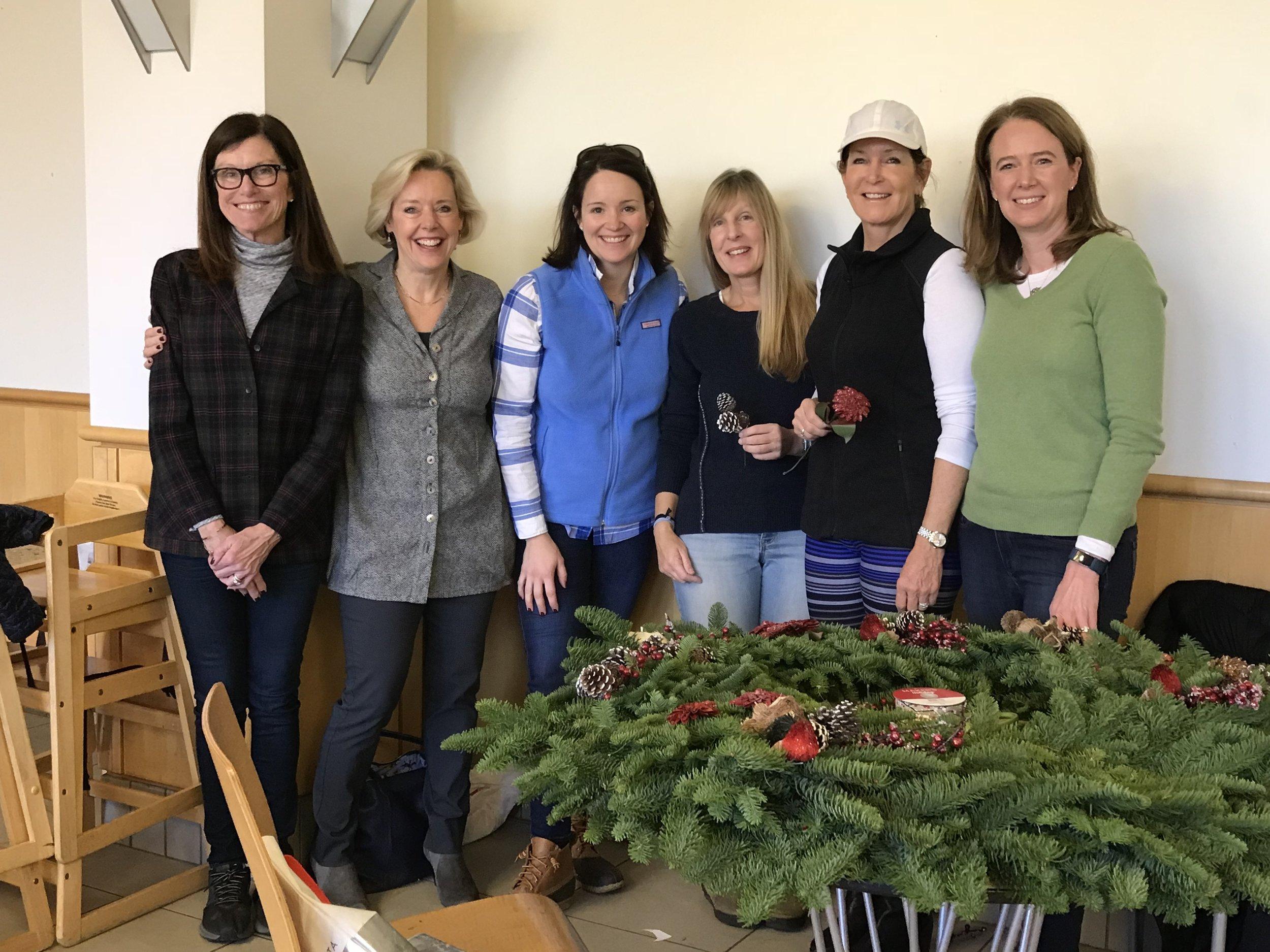 left to right: Caroline Borrow, Debbie Coakley, Suzanne Taigen, Lori Cohen, Meg Furey and Elizabeth Faremouth