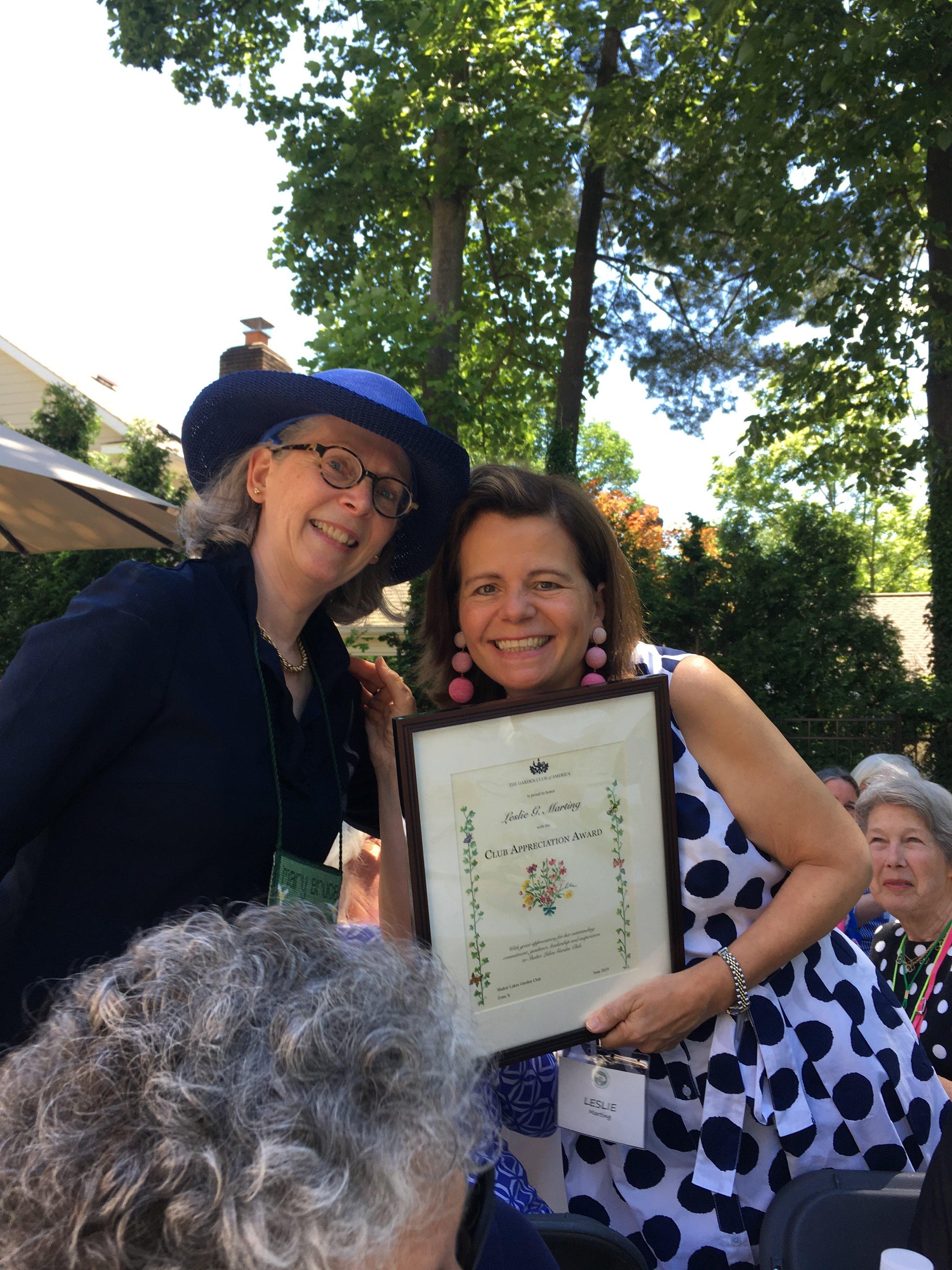 Leslie Marting - GCA Club Appreciation Award