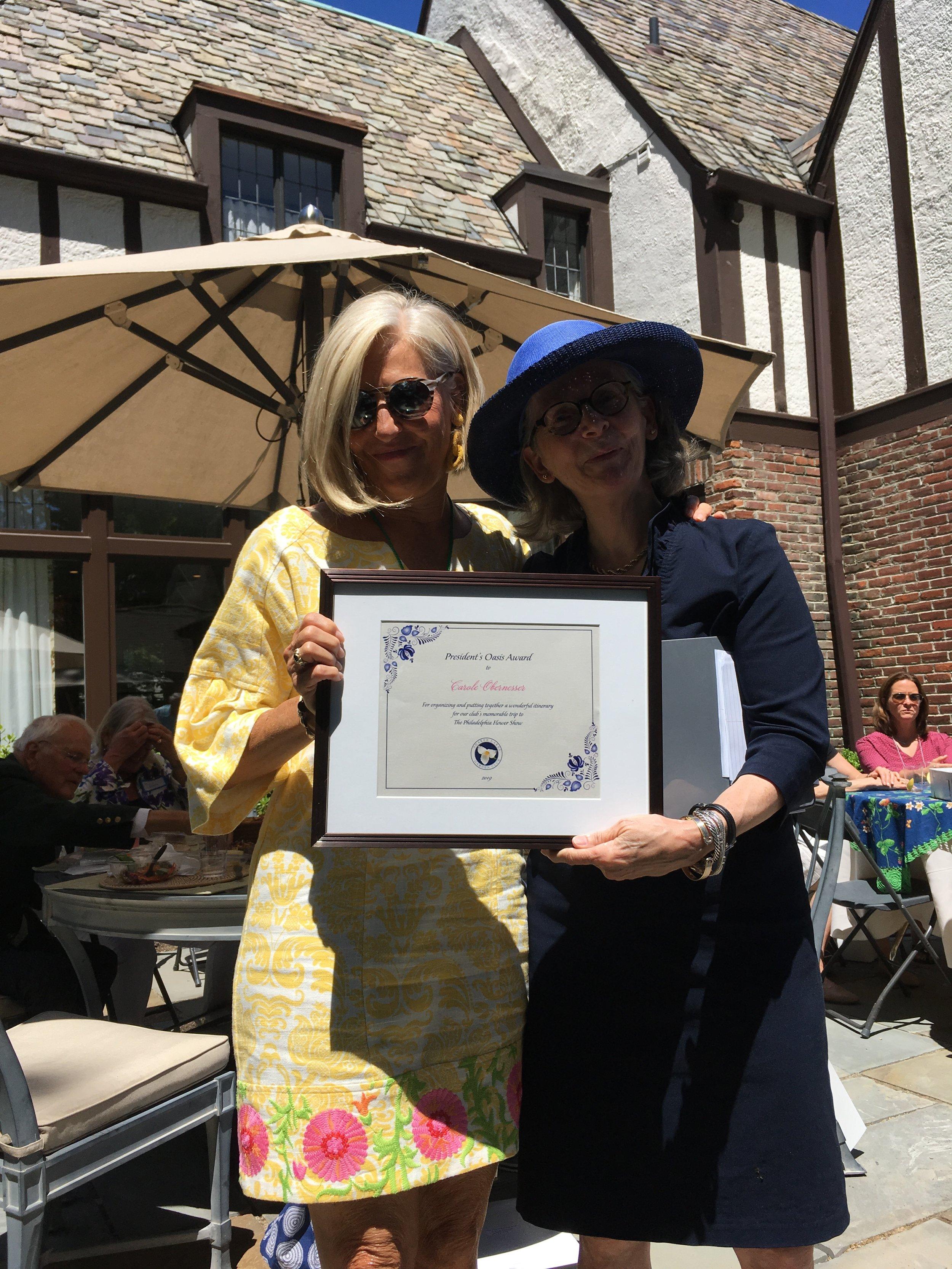 CAROLE OBERNESSER: Oasis Award