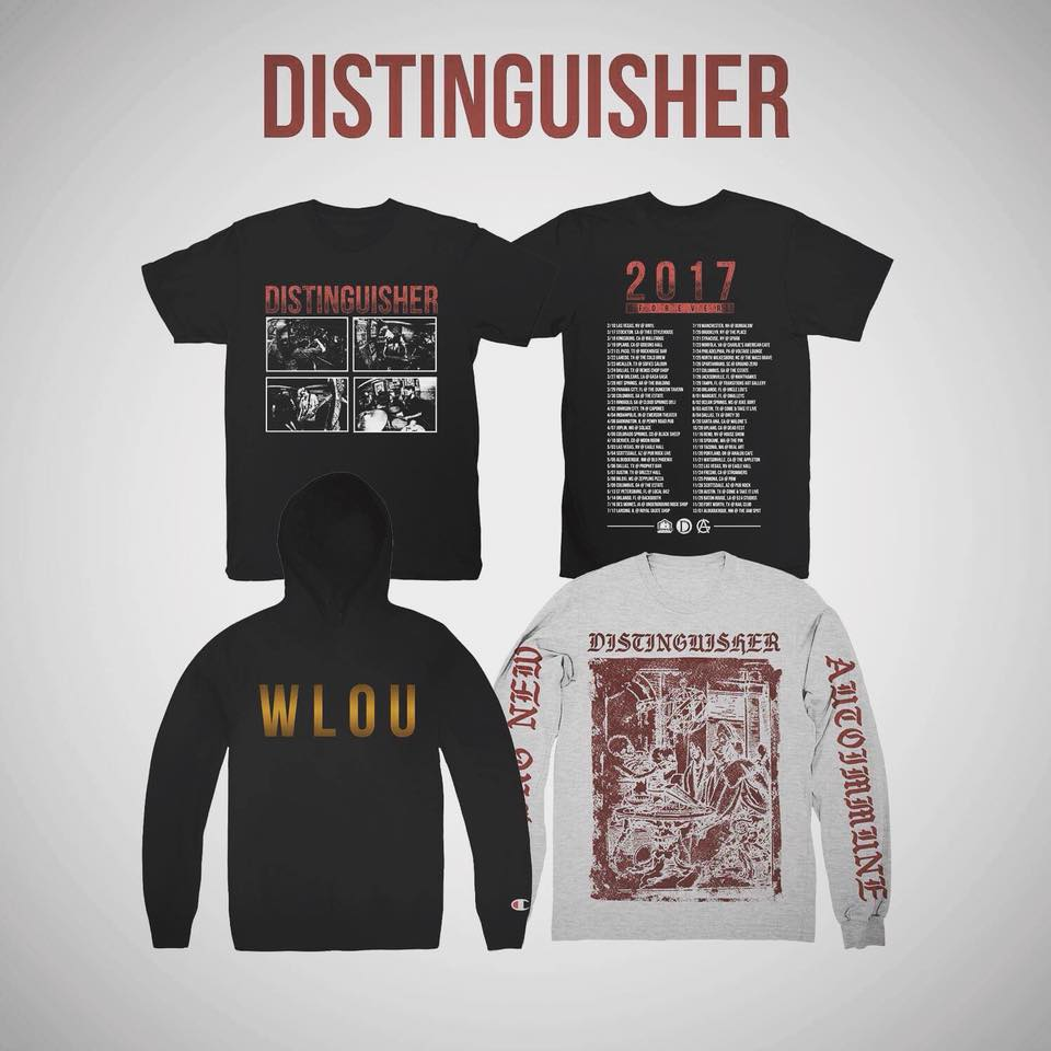 Distinguisher 2017 Winter Tour Exclusive Merch