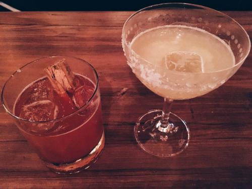 Pigalle- bourbon based (left)Belmondo- tequila based (right)