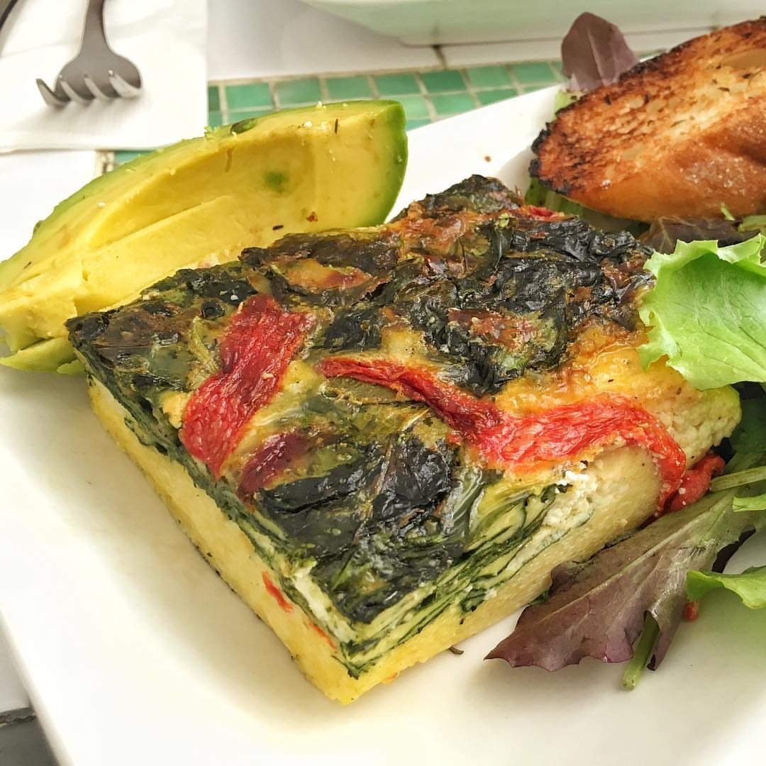 Goat cheese frittata (Instagram source: @meetonperry)