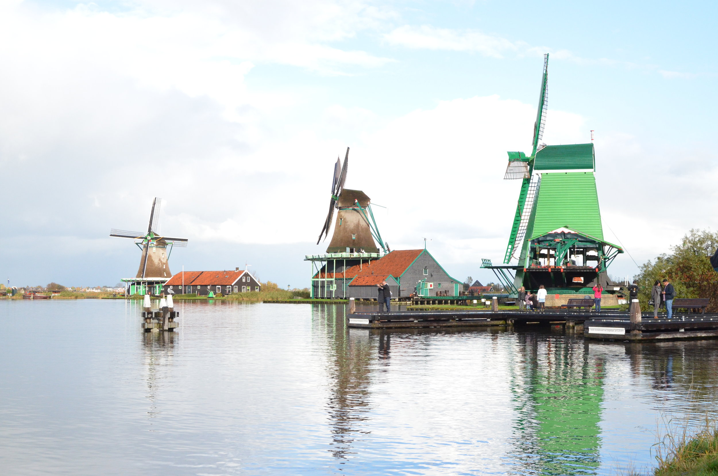 The windmills of Zaanse Schans
